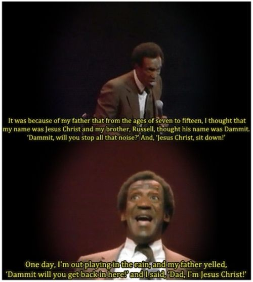 """Bill Cosby """"Himself"""".  This is one of my favorite movies, and one of my favorite parts!"""