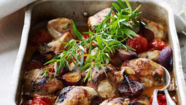 Kylling med tomat og estragon - Femina.dk