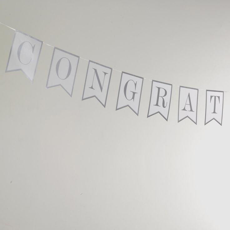 Contemporary Heart - Congratulations Bunting- Weddings