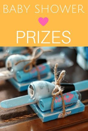 Baby Shower Prize Ideas that your guests will love! Manicure sets, pea pod prizes, coffee gift cards - all so cute!