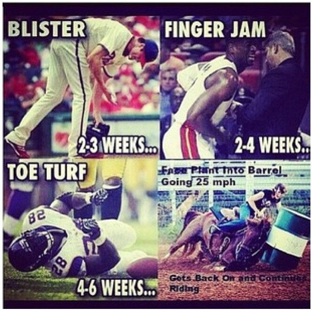"""I always thought the """"professionals"""" were wimps....yet they still say we aren't real athletes:"""