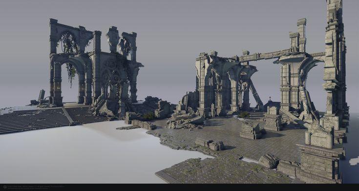 ArtStation - Skyforge — Gothic ruins setting, masha mash