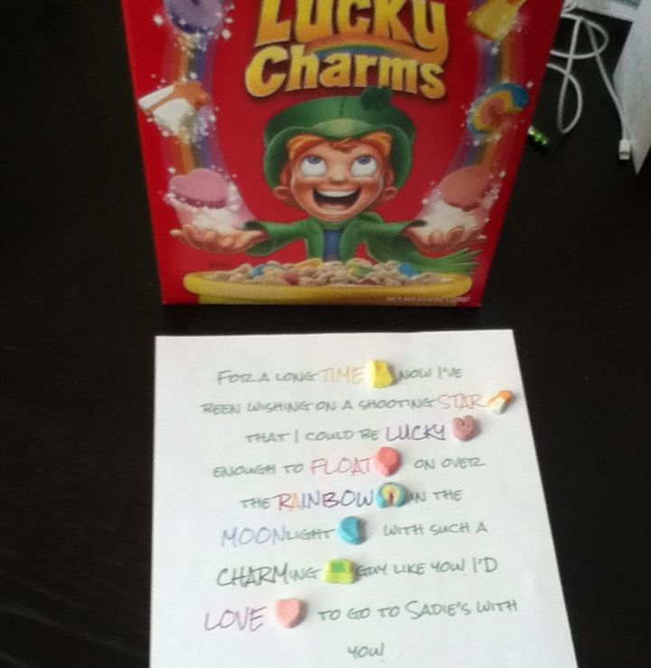 So Cute Use Lucky Charms To Ask A Guy School Dances