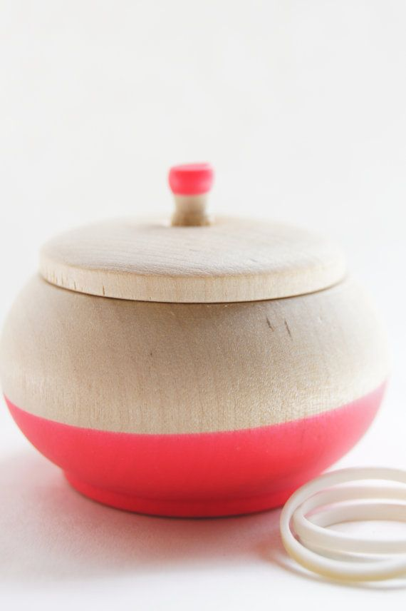 Mini Treasure Pot Neon Pink  Wedding Decor by WindandWillowHome