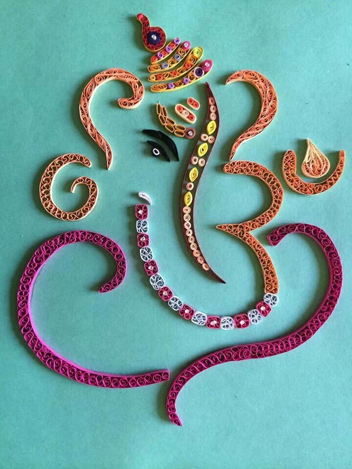 Abstract Ganesh in quilling By Chetana !!
