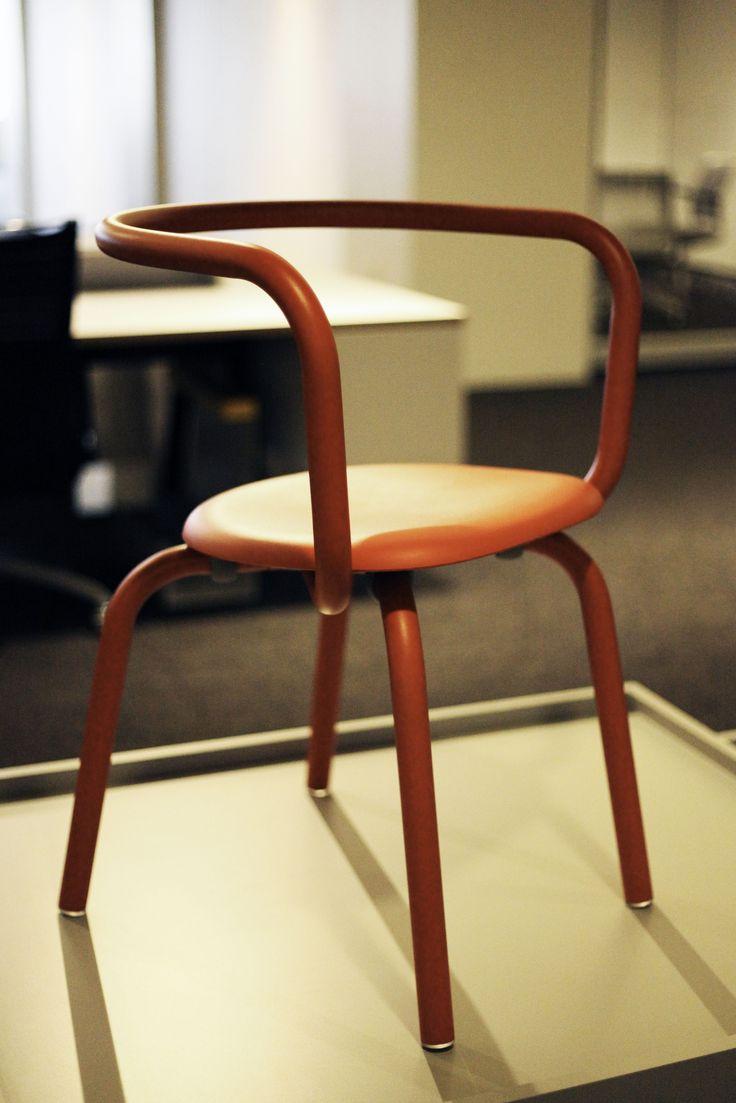 PARRISH SIDE RED POWDER COAT RED LEATHER | Manufacturer: Emeco |  Manufacturer Website: http. Lounge SeatingSide ...