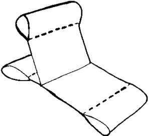 Patio cushions, replacement cushions, slings, replacement slings. How to re-sling your pvc chairs