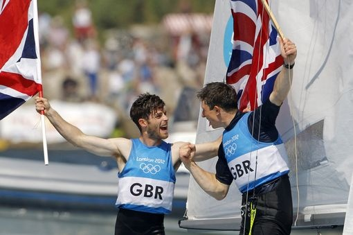 Silver medal sailing Luke Patience and Stuart Bithell