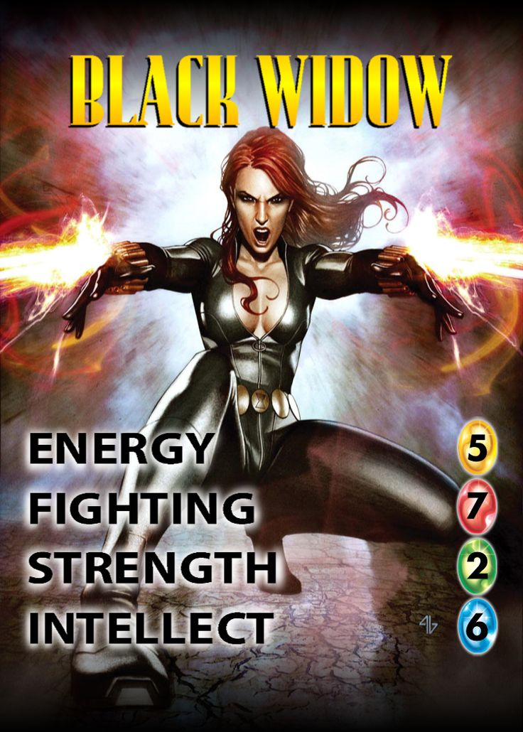 Black Widow OverPower Character card Infinity gems, Card
