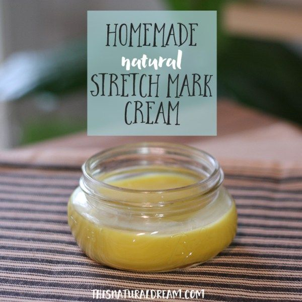 All Natural homemade stretch mark cream...This stuff is amazing and a cinch to make