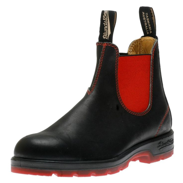Blundstone 2 Tone Sole Black 1316 Unisex Boot Shoes | Walking On A Cloud size 6