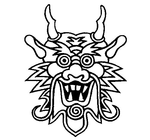 33 best kinesiske masker images on pinterest | coloring books ... - Chinese Dragon Mask Coloring Pages