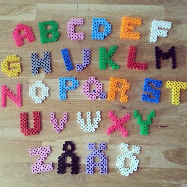 Alphabet hama beads by orangebrandgul