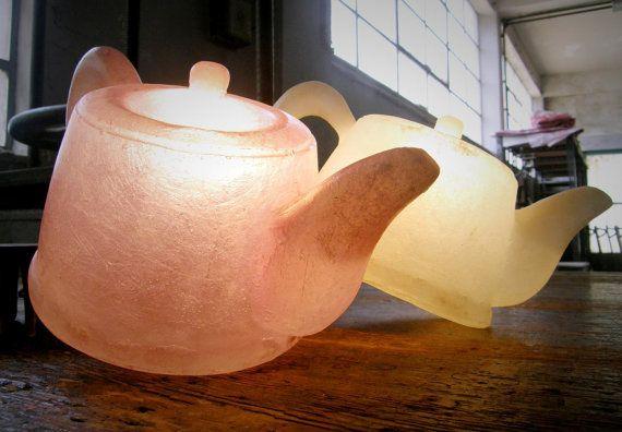 Tea Pot  fiberglass lamps by GshopAthens <3