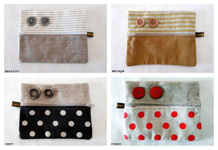 Bustine portafoglio, portacarte, portaoggetti vari