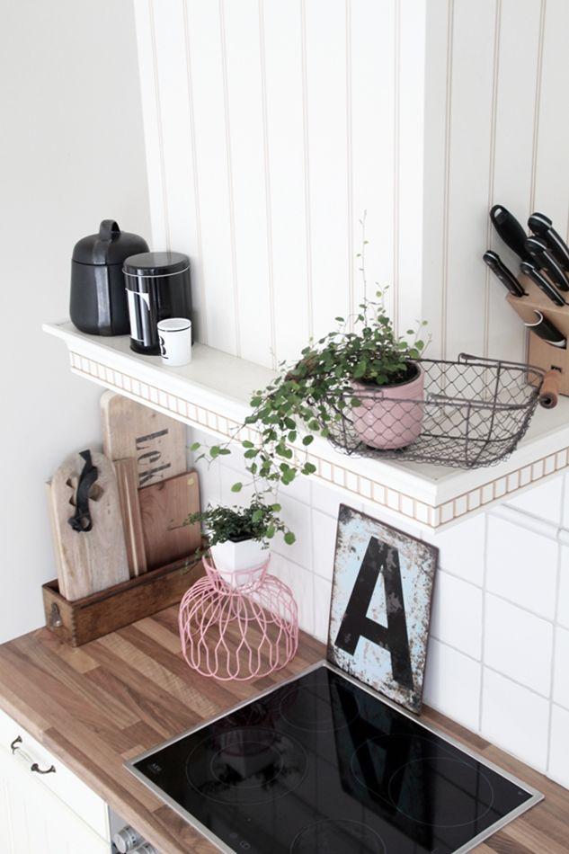 Frühling Deko Küche pastell rosa