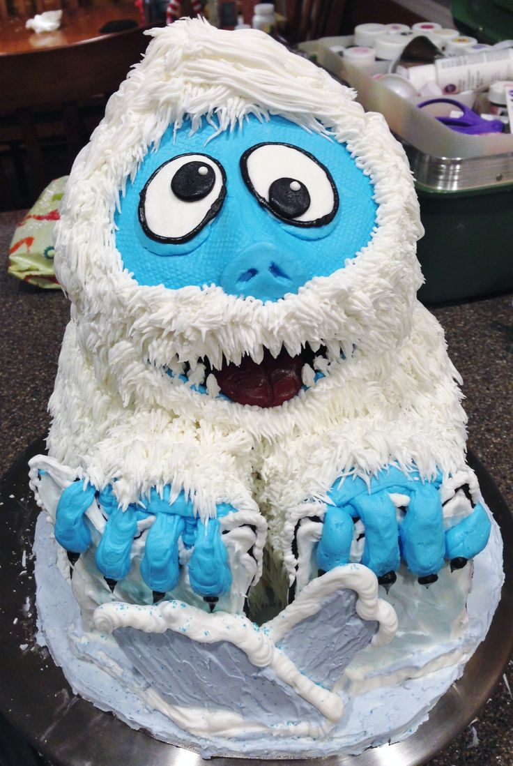 My abominable snowman cake baker chicks cool cakes for Abominable snowman holiday decoration