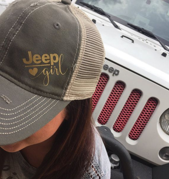 Jeep Girl Trucker Hat: Destroyed Style by Serendipitybeyondtee