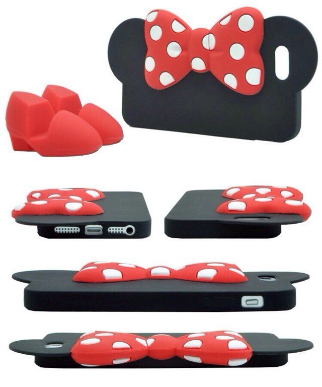 Silicone Mickey/Minnie Mouse Case Back Cover Bumper for iPhone 5/5S