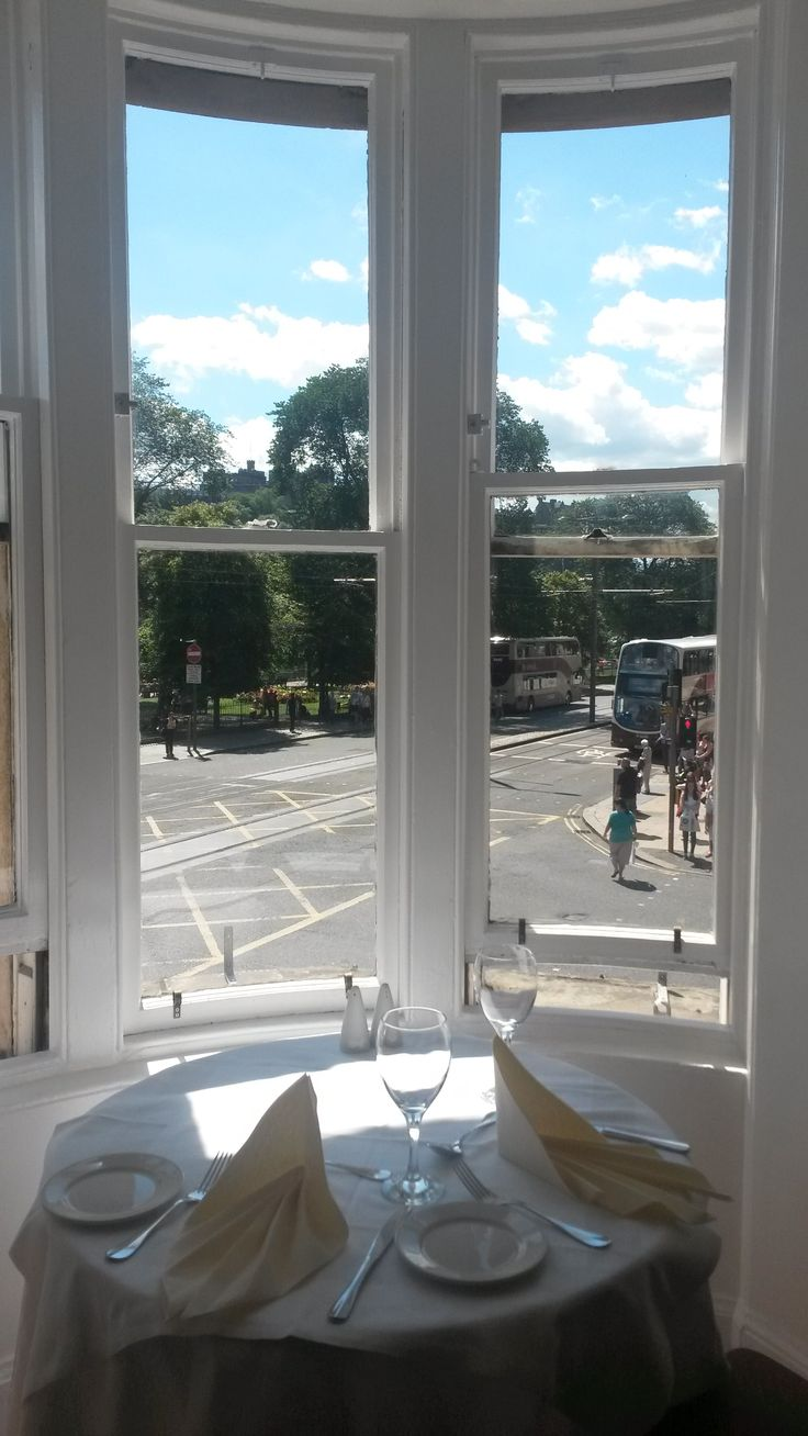 One of the best tables in Cranston's Restaurant - imagine having a romantic dinner with the view of sunset! Or waking up and having breakfast and looking at the Castle! Book your next stay at www.oldwaverley.co.uk.