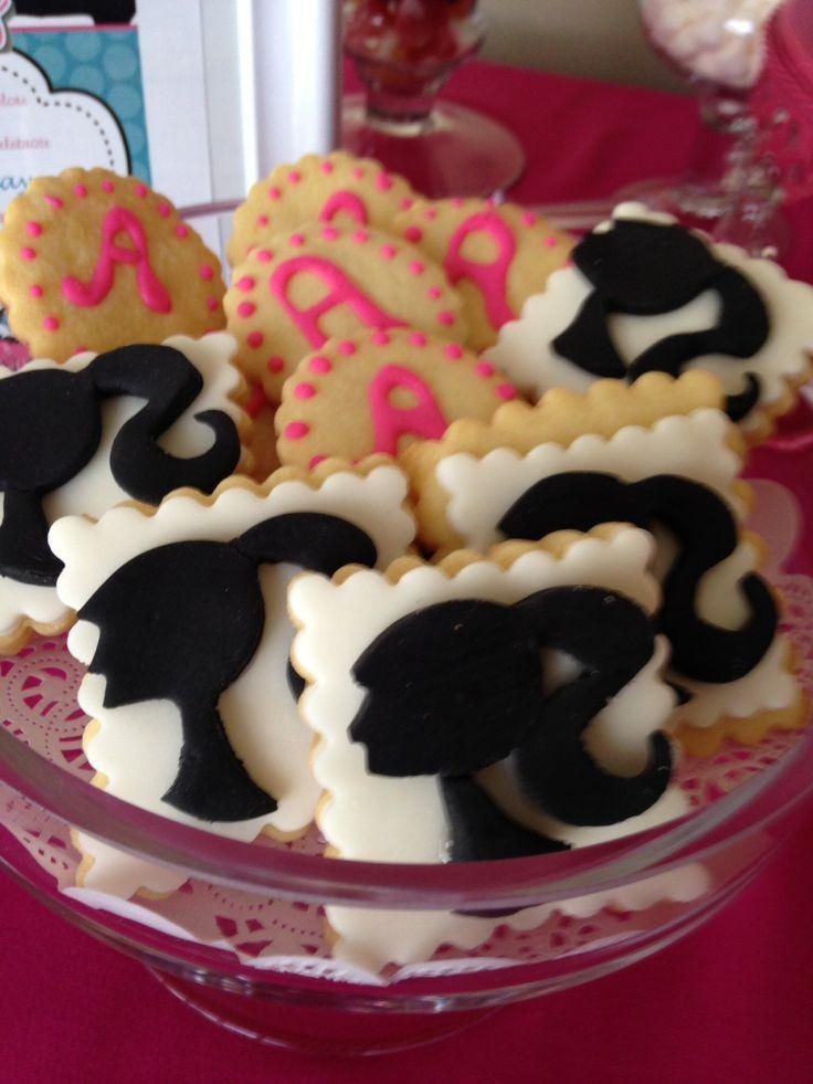 Butter cookies -Barbie edible fondant print