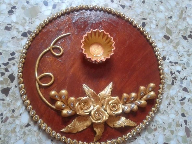 Pooja Thali- for Auspicious occassion - Crafts by priyanka jain in Chah Creation at touchtalent