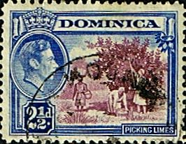 Dominica 1938 King George VI SG 103 Fine Used Scott 101 Other Dominica Stamps HERE
