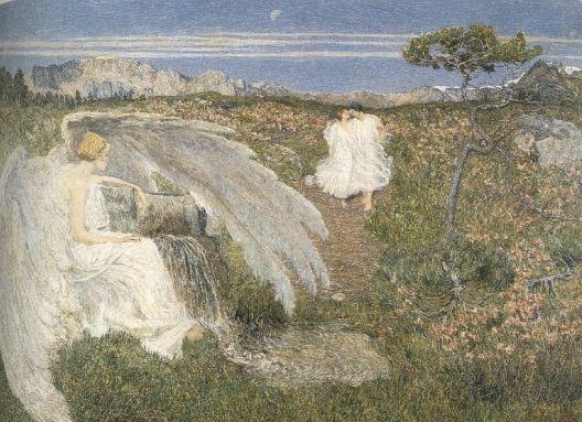 Giovanni Segantini, L'AMORE ALLA FONTE DELLA VITA, 1896, Olio su tela, cm 70x98, Milano, Civica galleria d'Arte Moderna
