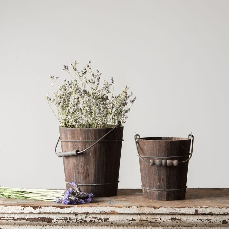 Rustic Wooden Water Pail - Magnolia Market | Chip & Joanna Gaines
