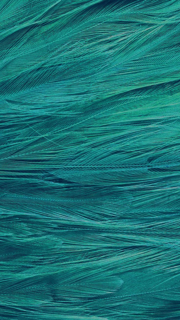 Feather Blue Bird Pattern #iPhone #6 #plus #wallpaper