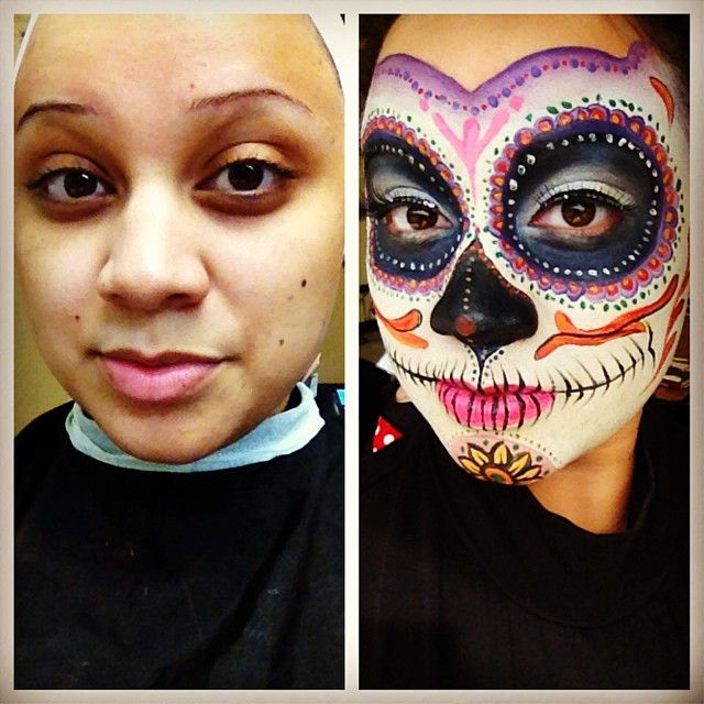 day of the dead sugar skull halloween make up make up - Halloween Day Of The Dead Face Paint