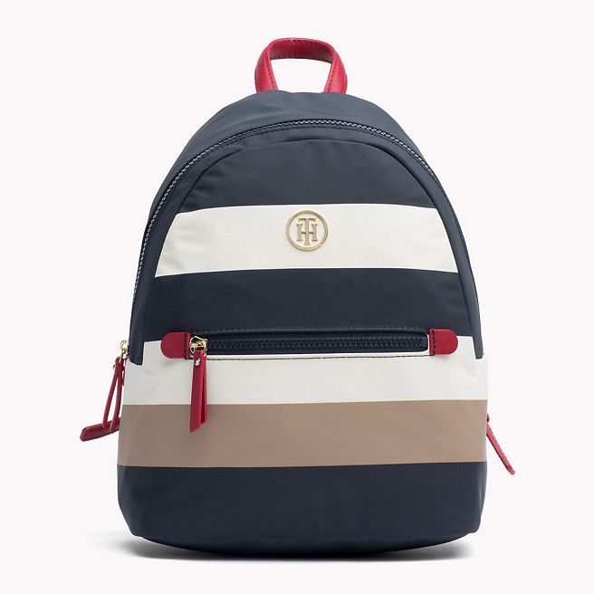 Nylon Tommy Hilfiger Striped Backpack