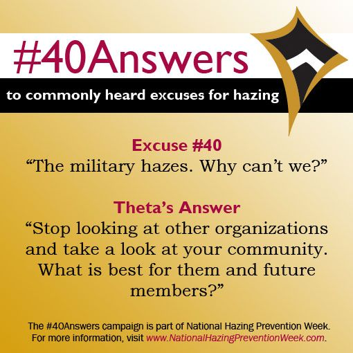 #40Answers Campaign, Day 40: Stop looking at other organizations and take a look at your community. What is best for them and future members? #NHPW