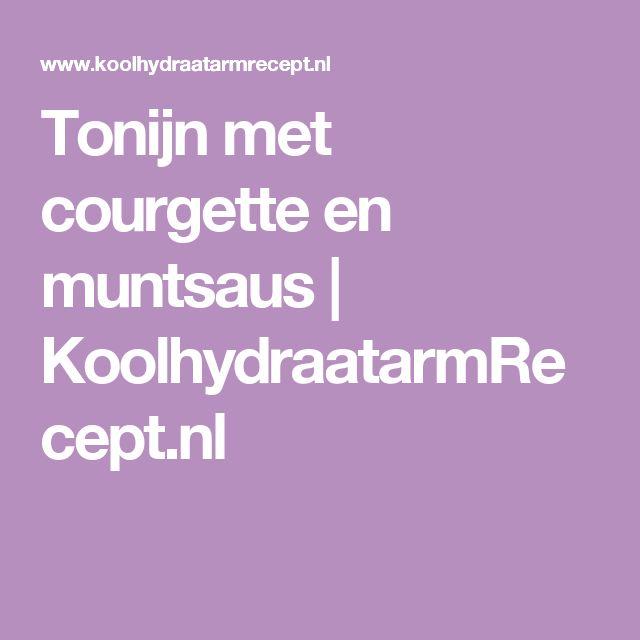 Tonijn met courgette en muntsaus   KoolhydraatarmRecept.nl