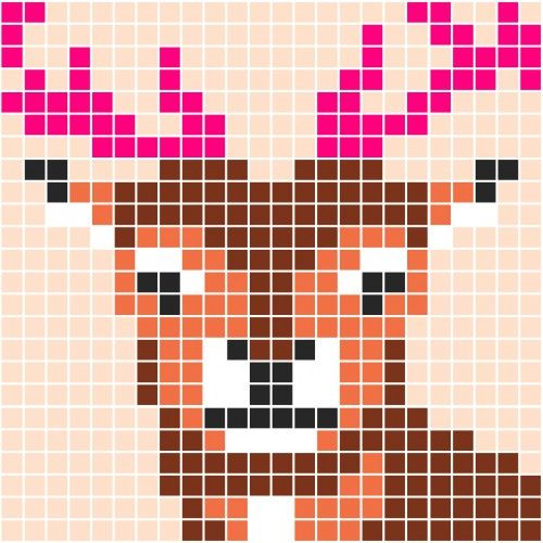 Deer pattern - Pixel Party