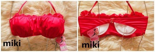 Koyu kırmızı kek etek yular plaj bikini mayo küçük göğüs Spa İncili parça kat yükseldi - Taobao