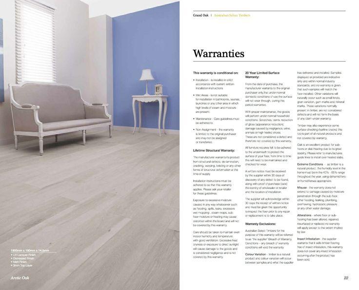 Grand Oak Timber Flooring: Grand Oak Brochure P12