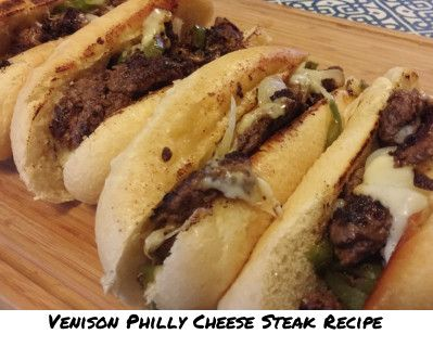 Venison Philly Cheese Steak Recipe #venison #wildgame #cheesesteak