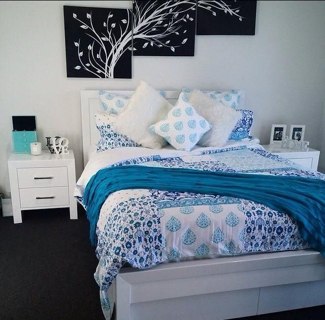 Turkish-tile inspired Epsom quilt cover. Get yours at www.lorrainelea.com