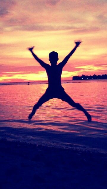 X-man sunset at Pulau Melinjo Indonesia