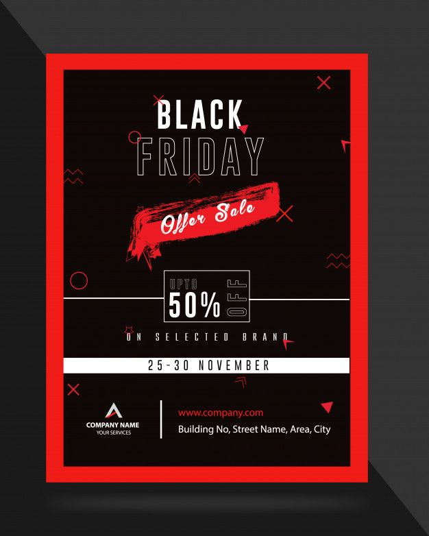 Black Friday Cyber Monday Sale Ad Banner Flyer Template