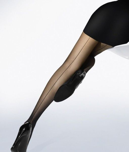 Wolford Individual 10 Seamed Tights are a perfect addition to any office outfit
