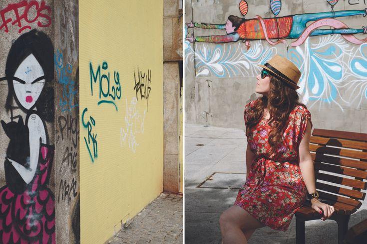 Cat Lady by the street artist Rafi http://www.iletaitunefaim.com/street-art-a-porto/ #Porto #streetart