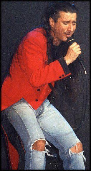"Steve Perry in his trademark tails, mid-90s ""For The Love Of Strange Medicine Tour"" His peak solo career"