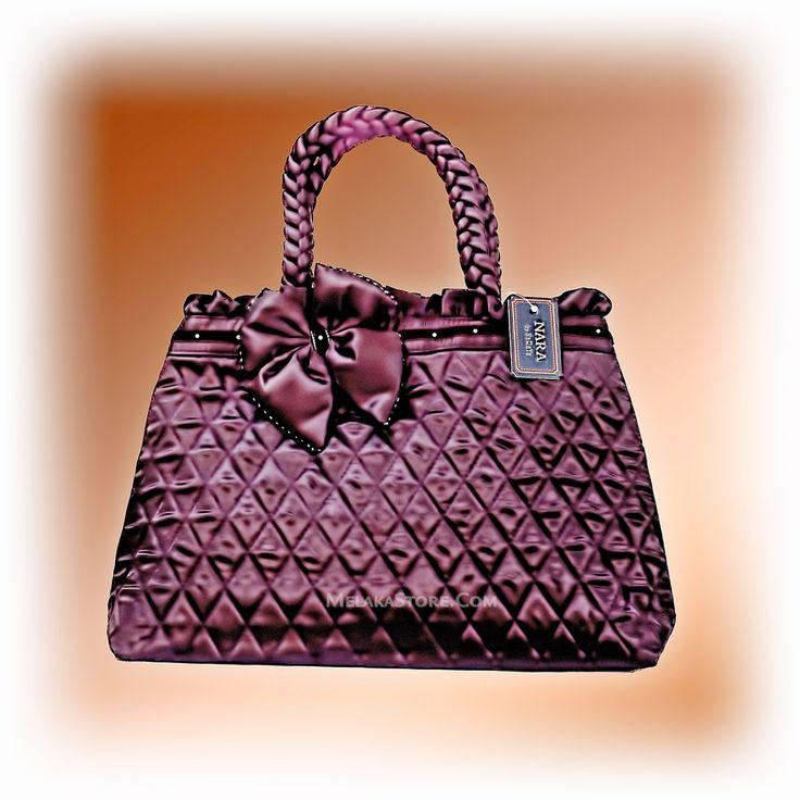 NaRaYa  Hand Bag - Silky Dark Purple-Brown, RM135.00
