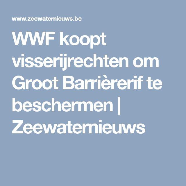 WWF koopt visserijrechten om Groot Barrièrerif te beschermen   Zeewaternieuws