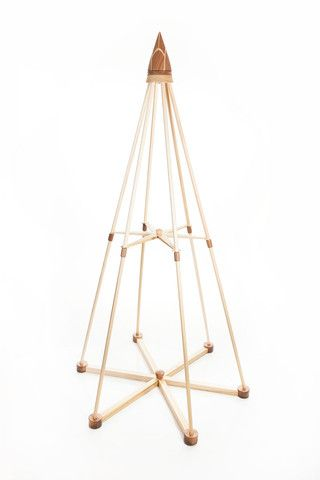 Jubiltree Wooden Tree, made of solid maple and walnut - This is cool.  I'd love to figure out how to make this cheaper.  It won't look as good as with wood, but I bet it would be neat to make this out of pvc.