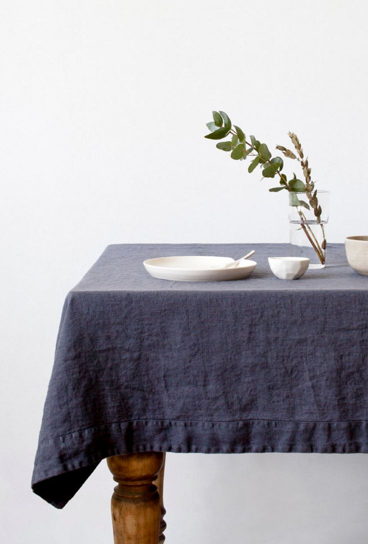 Stonewashed Linen Tablecloth by Linen Tales on Etsy