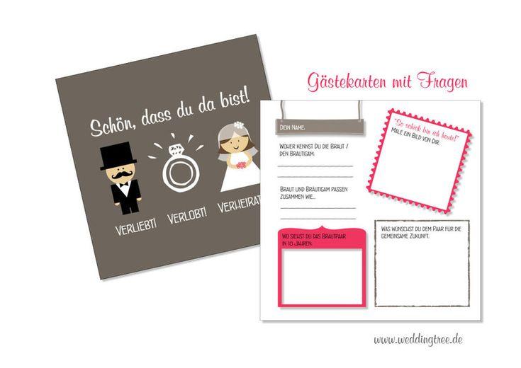 Gästebuch Karten  von Be-Nice-4-You auf DaWanda.com