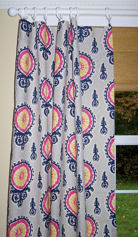 MICHELLE Nina DENTON Custom CURTAINS Premier Fabric Like Linen Two Drapery…
